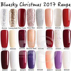 Bluesky CHRISTMAS 2017 RANGE UV/LED Gel Nail Soak Off Polish Diamond Glitter
