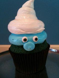 Cupcakes Pitufos, idóneos para una fiesta años 80 / Smurf cupcakes, ideal for an 80s party!