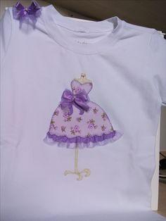 Camiseta Vestido/laço