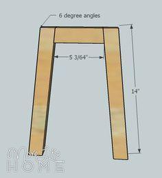 Welcome to day one of our nightstand series! You can see the entire series here . We're starting with something that is easy to build and. Diy Nightstand, Nightstands, Diy Home Furniture, Wood Furniture, Desk Organization Diy, White Side Tables, Diy Wood Projects, Handmade Home Decor, Building Plans