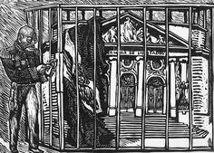 """Alfredo Zalce. VICTORIANO HUERTA CLAUSURA LAS CAMARAS. 10 DE OCTUBRE DE 1913. """"Si no tenemos las necesarias garantías, nos iremos a sesionar al lugar del territorio nacional en donde éstas se nos otorguen"""", dijeron los diputados de la XXVI Legislatura al tener conocimiento de la muerte del senador Belisario Domínguez. Huerta, por conducto de Aureliano Blanquet, ordenó la disolución de las Cámaras y los representantes populares fueron encerrados en la Penitenciaría hasta principios de 1914."""