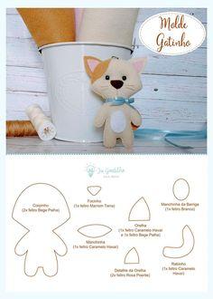 A crafters guide to felt craft projects. Felt Animal Patterns, Felt Crafts Patterns, Stuffed Animal Patterns, Easy Felt Crafts, Sewing Stuffed Animals, Felt Cat, Felt Fabric, Felt Dolls, Felt Ornaments