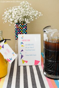 Drink menu from the Geometric party printables set by @paperandcake