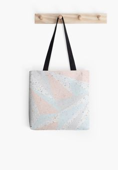 Beautiful real photo of terrazzo stone used as a background for the pastel graphic triangles. The color combination is very soft and matches with the loght colored terrazzo back ground. Beautiful spring and summer colors trending this season. • Also buy this artwork on bags, apparel, phone cases, and more.