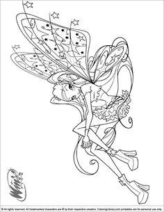 Coloriage Fee Winx Imprimer.15 Meilleures Images Du Tableau Winx Coloring Pages Coloring