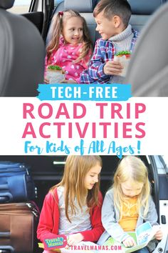 Kids love movies and video games, but there are lots of ways to keep them content on the road without technology! Keep children and teens entertained during your next family road trip with these fun unplugged activities. #roadtrip #travelwithkids #familytravel
