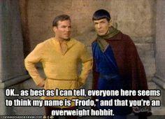 \The hobbit Star Trek Spock Captain Kirk funny