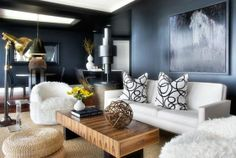 Sophisticated Navy Walls