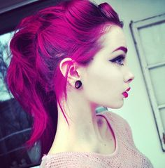 Pink hair don't care, plugs
