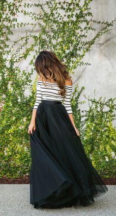 black tulle skirt | laceandlocks