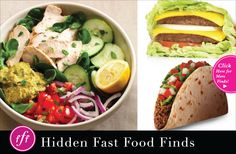 Sometimes eating fast food is unavoidable, so if you're gonna do it, do it right! Check out these hidden finds for healthier #fastfood options! #health