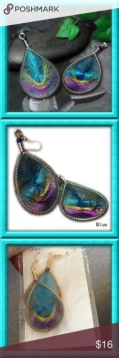 30% off Bundles  Peacock Thread Hoop Earrings Brand new. Jewelry Earrings