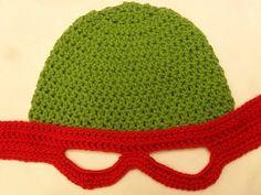 -... Ninja Turtle Inspired Crochet Hat Pattern @ Heart-2-HomeHeart-2-Home