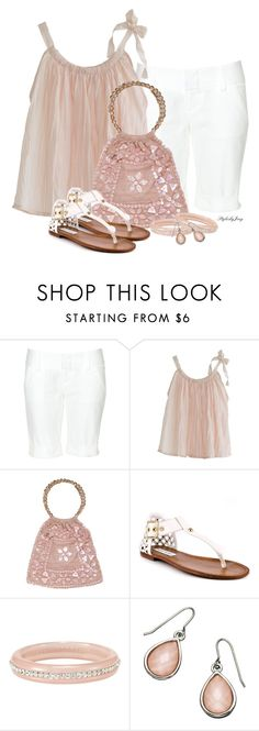 """""""Blushin' in the Summer Sun"""" by stylesbyjoey ❤ liked on Polyvore featuring Alice + Olivia, Moyna, Steve Madden, LOFT, Monsoon, women's clothing, women, female, woman and misses"""