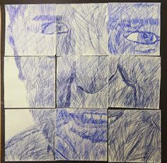 With a car still half full of post it notes, we set about using them to create self portraits.  We took photographs of the pupils pul...