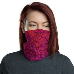 """MADE IN USA Washable Neck Warmer Face Cover Neck Gaiter. Can Be used as an awesome Fashionable Bandana Accesory. Stay Home , Stay Safe! Best Wishes from for a better """"restart"""" of the Planet! Together We Stand! Together We Stand, Bandana Scarf, Bandanas, Stay Safe, Neck Warmer, Pattern Art, Trippy, Psychedelic, Face Masks"""