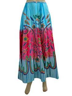 "Womens Skirt Blue Printed Skirt Bohemian Maxi Skirts Long Skirt, Length 36"" Mogul Interior,http://www.amazon.com/dp/B00BWIK5PE/ref=cm_sw_r_pi_dp_1xrsrb0VFYV9SRKV"