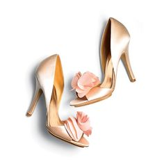 #FSJshoes - #FSJ Shoes Pink Wedding Heels Floral Satin Double D'orday Pumps for Bridesmaid - AdoreWe.com