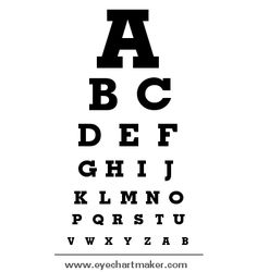Custom Eye Chart Maker