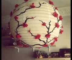 Sakura Paper Lantern
