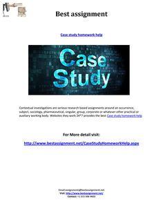 A CASE STUDY OF Homework Help https   www homeworkping com