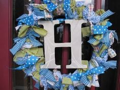 Something to use up fabric remnants. http://www.thehighheeledhostess.com/2010/07/fabric-wreath.html