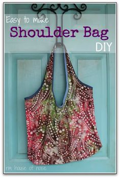 A great tutorial for a basic bag from just one yard of fabric! These are so easy Im going to make a lot of these! The possibilities are endless with thousands of fabrics to choose from at the Fabric Shack at http://www.fabricshack.com/cgi-bin/Store/store.cgi Repinned: shoulder bag - diy