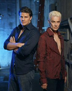 """""""Buffy the Vampire Slayer"""" spike (to the right) is so hot. Which one is hotter? Lol"""