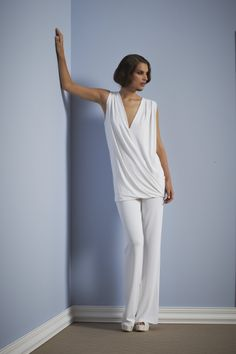 Spring Summer 2014 Colletion White Top White Pants