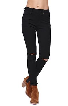 9b91ac7b6ee Bullhead Denim Co High Rise Skinniest Slit Knee Black Jeans at PacSun.com