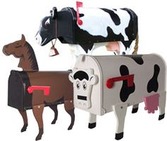 Farm Animal Novelty Mailboxes Residential