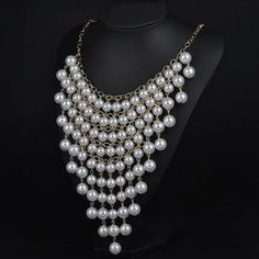 Jewelry - Multilayer pearl gold statement necklace