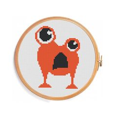 Shop for on Etsy, the place to express your creativity through the buying and selling of handmade and vintage goods. Cross Stitch Alphabet, Cross Stitch Animals, Cross Stitch Designs, Cross Stitch Patterns, Halloween Cross Stitches, Monograms, Dinosaurs, Needlepoint, Baby Shower Gifts