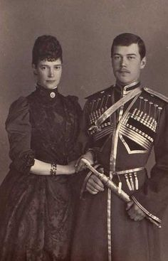 Nicholas Ii with his mother.
