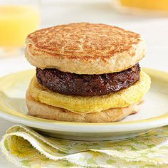 No need to stop for fast food on the way to work. Create tasty and portable breakfast sliders at home using healthy mini pancakes as the bread!