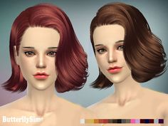 Corporate hairstyle for The Sims 4