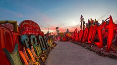 Neon Museum, Las Vegas, Nevada (© Kerrick James/Getty Images) – 2016-07-19 [http://www.bing.com/search?q=neon+museum&form=hpcapt&filters=HpDate:%2220160719_0700%22]