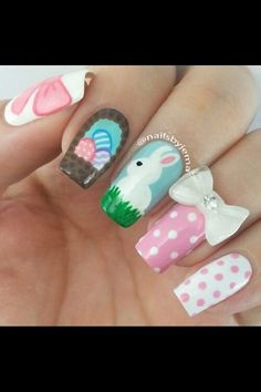 Easter nail art..happy easter