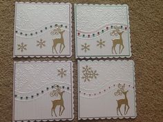 all occasions embossing folder cards Cas Christmas Cards, Homemade Christmas Cards, Homemade Cards, Handmade Christmas, Holiday Cards, Christmas Crafts, Christmas 2019, Winter Karten, Stampin Up