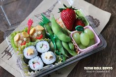 Cuisine Paradise | Singapore Food Blog | Recipes, Reviews And Travel: [Recipes] Quick Lunch Bentos For Kids - Kani and Cucumber Roll Bento