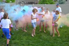Hollyhocks & Honeybees: Colorful Birthday Party idea
