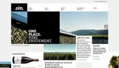 ARA Wines, on siteInspire: a showcase of the best web design inspiration. Wine Websites, Cool Websites, Website Layout, Website Ideas, Ui Web, Best Web Design, Construction, Web Design Inspiration, Creative Inspiration