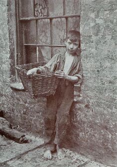 "Little is known of Horace Warner and nothing is known of his relationship to the nippers. Only 30 of these pictures survive, out of 240 he took in 1912 of the Spitalfields Nippers, East End London. They originally  accompanied the annual reports of the charitable Bedford Institute, Quaker St, Spitalfields as illustrations of poverty, ""but that is not the sum total of these beguiling photographs...spirited images of something more subtle and compelling, the elusive drama of childhood itself."""
