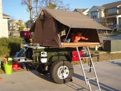 Click this image to show the full-size version. Off Road Tent Trailer, Off Road Teardrop Trailer, Diy Camper Trailer, Tent Campers, Trailer Build, Camping Trailers, Off Road Camping, Jeep Camping, Diy Camping