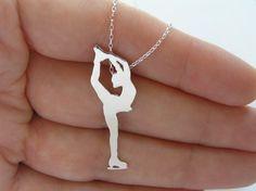 Figure Skater Necklace Pendant