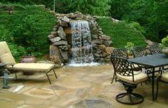 #waterfall #patio #stone #landscape #GA