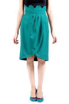 Shoptiques — High-Waist Belt Detailed Skirt