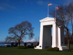 In the southernmost section of Surrey, near the shores of Semiahmoo Bay, a 67' white monument known as the Peace Arch watches over travellers between the United States and Canada. This is one of Canada's major border crossings and joins Highway 99 with Interstate 5 in Washington. - See more at: http://blog.travel-british-columbia.com/international-peace-arch-park-metro-vancouver/#sthash.a67ozZbA.dpuf