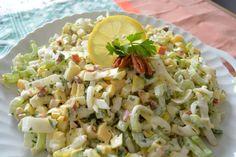 Vegan For A Week, Salsa, Raw Food Recipes, Pasta Salad, Potato Salad, Cabbage, Brunch, Food And Drink, Low Carb