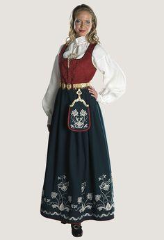 Follobunad Ethnic Fashion, Norway, Scandinavian, Victorian, Costumes, Folklore, Buildings, Outfits, Beautiful